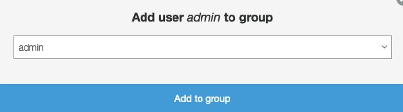 Add the user to the admin group using the drop down. This step is critical or else your access to MAPS will be restricted.