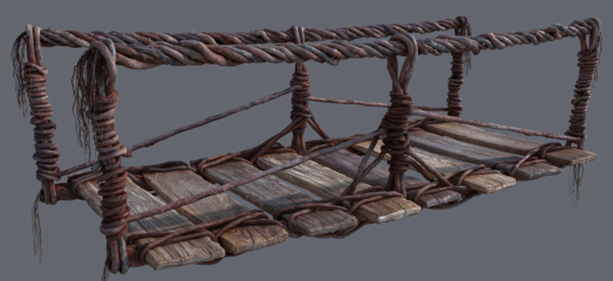 A render of a section of the bridge