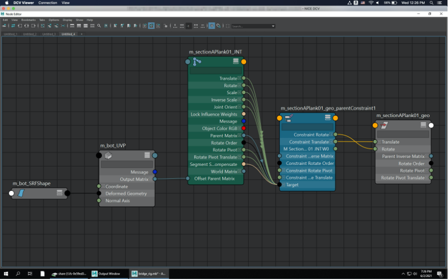 Node Editor showing the node connections