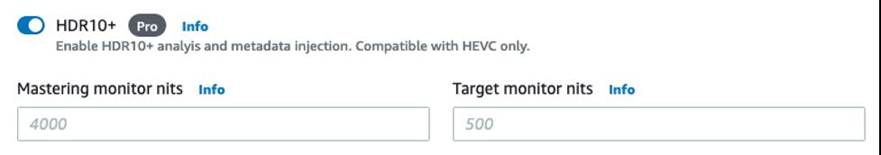 Enable HDR10+ settings