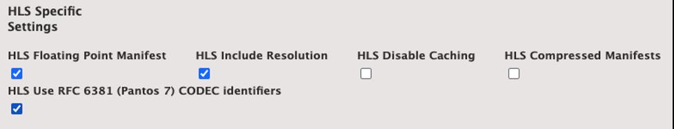 HLS Specific Settings on Elemental Server