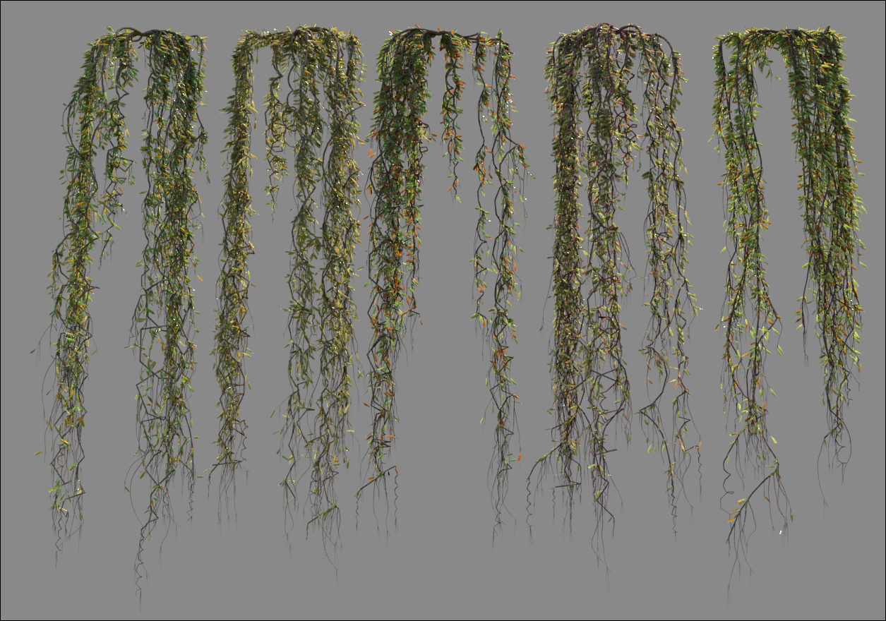 Renders of vine variations