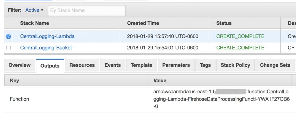 logging lambda 2 line