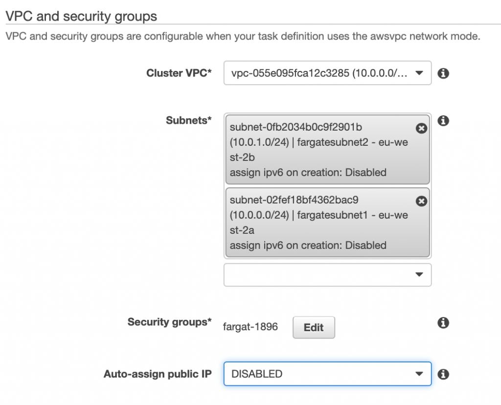 VPC and Security groups