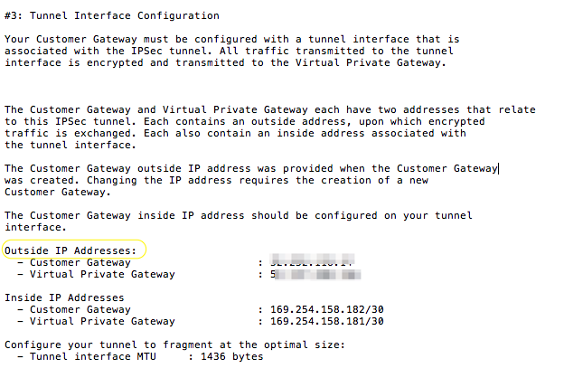 Figure 8 - VPN Configuration VPG IP