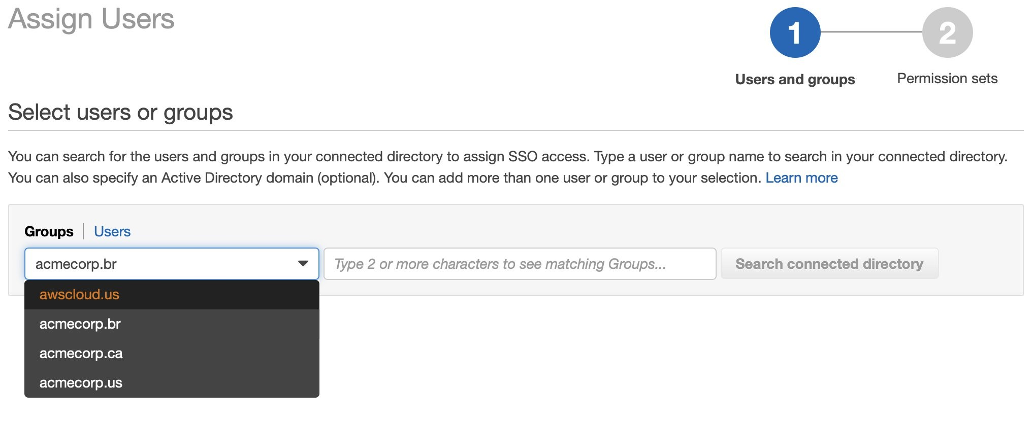 Figure 4 - Selecting Users or Groups