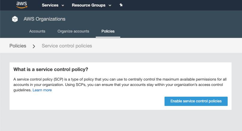 service control policies