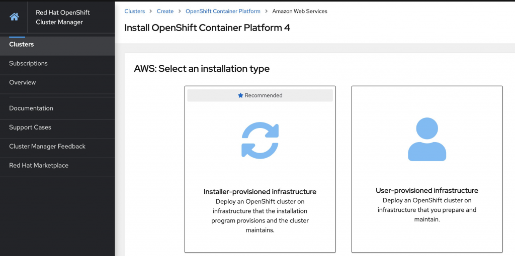 Install OpenShift Container Platform 4