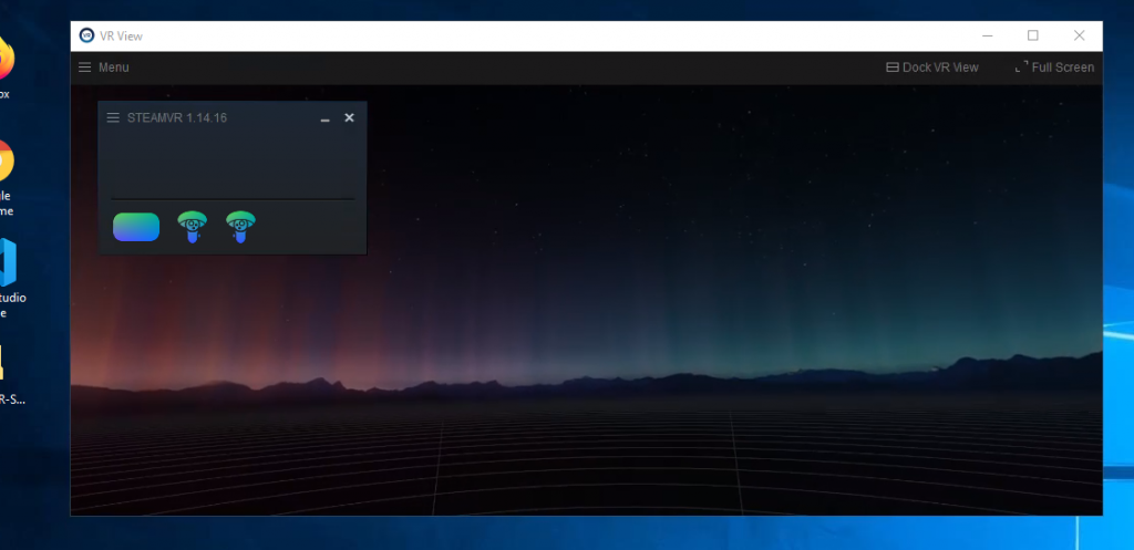 """SteamVR """"Void"""" and Headset Connected icons"""