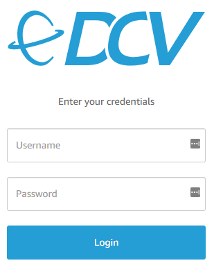 NICE DCV login screen