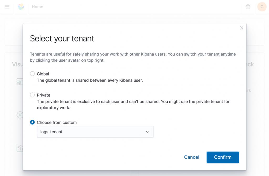 Select your tenant screenshot