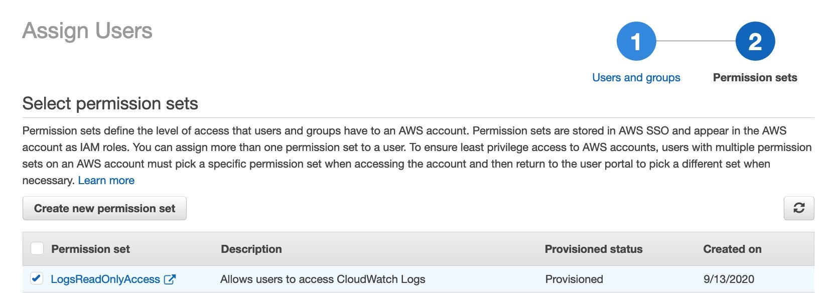 Assign a User to AWS Accounts