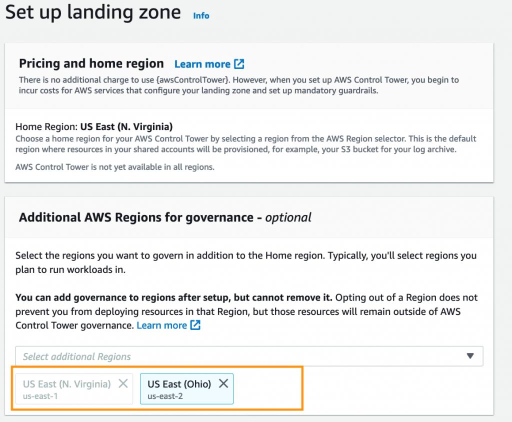 Set Up landing Zone Screenshot