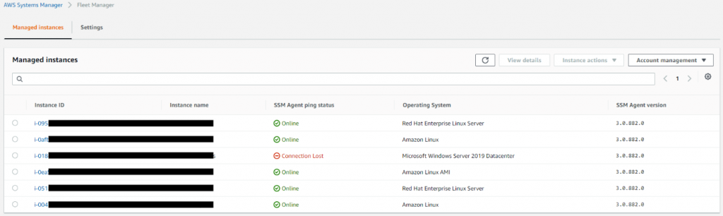 AWS Systems Manager screenshot