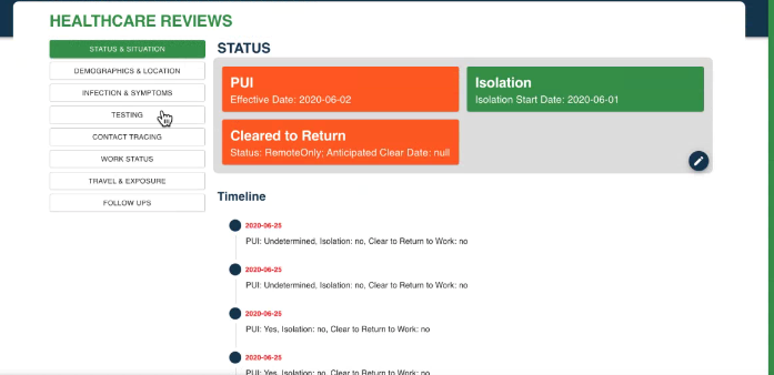 A screenshot of how to create a new PUI record on the IDMS website