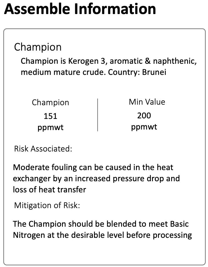 "Figure 8: ""Champion"" crude assembled information for property Nitrogen"