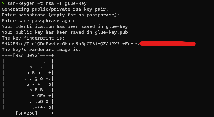 Glue Dev Endpoint screenshot