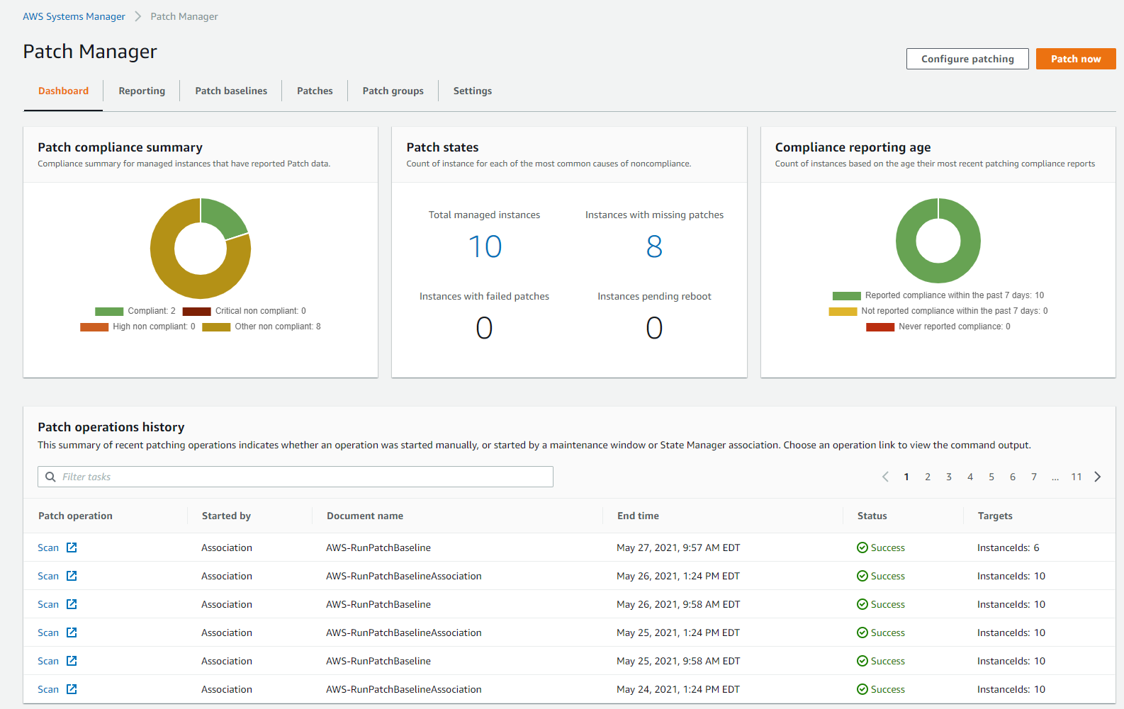 Figure 4. Patch Manager dashboard