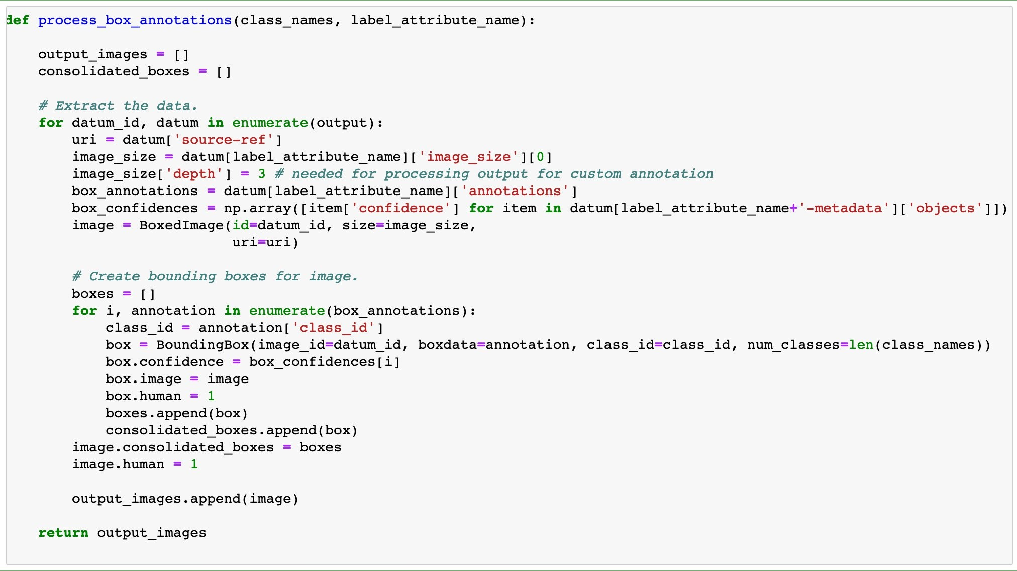 Code sample to show Helper functions