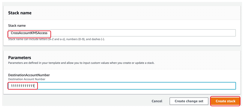 Create Stack screenshot