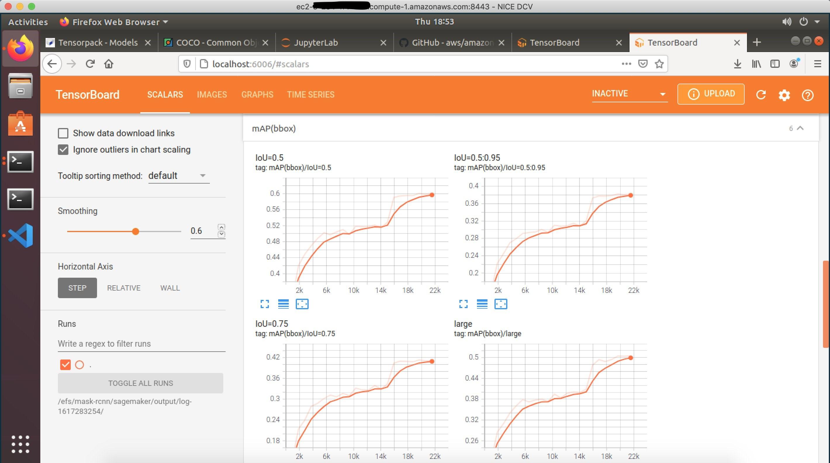 Locally monitoring the TensorBoard summaries from SageMaker training job