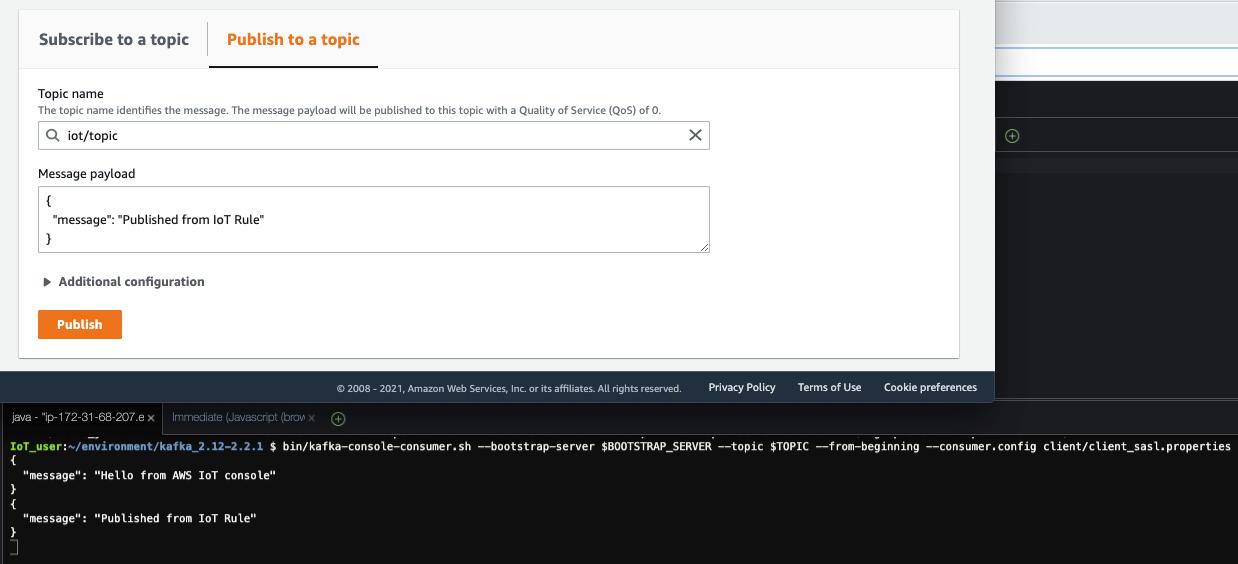 Figure 20 - Screenshot showing testing the data pipeline