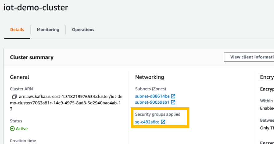 Figure 9 - Selecting Security Groups Applied