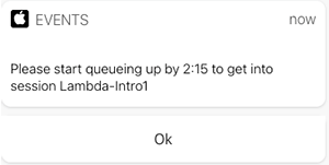 Figure 4. Session notification on guest device