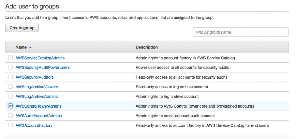 Figure 3.Assigning SSO user to a group