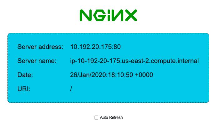 NGINX landing page