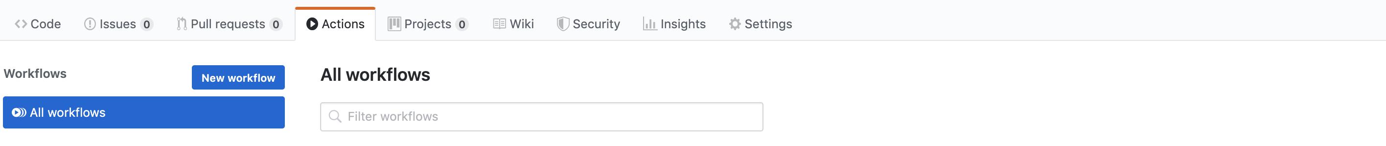 Example Add GitHub Workflow