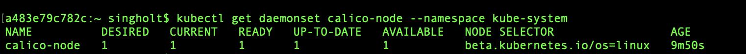 kubectl get daemonset calico-node --namespace kube-system