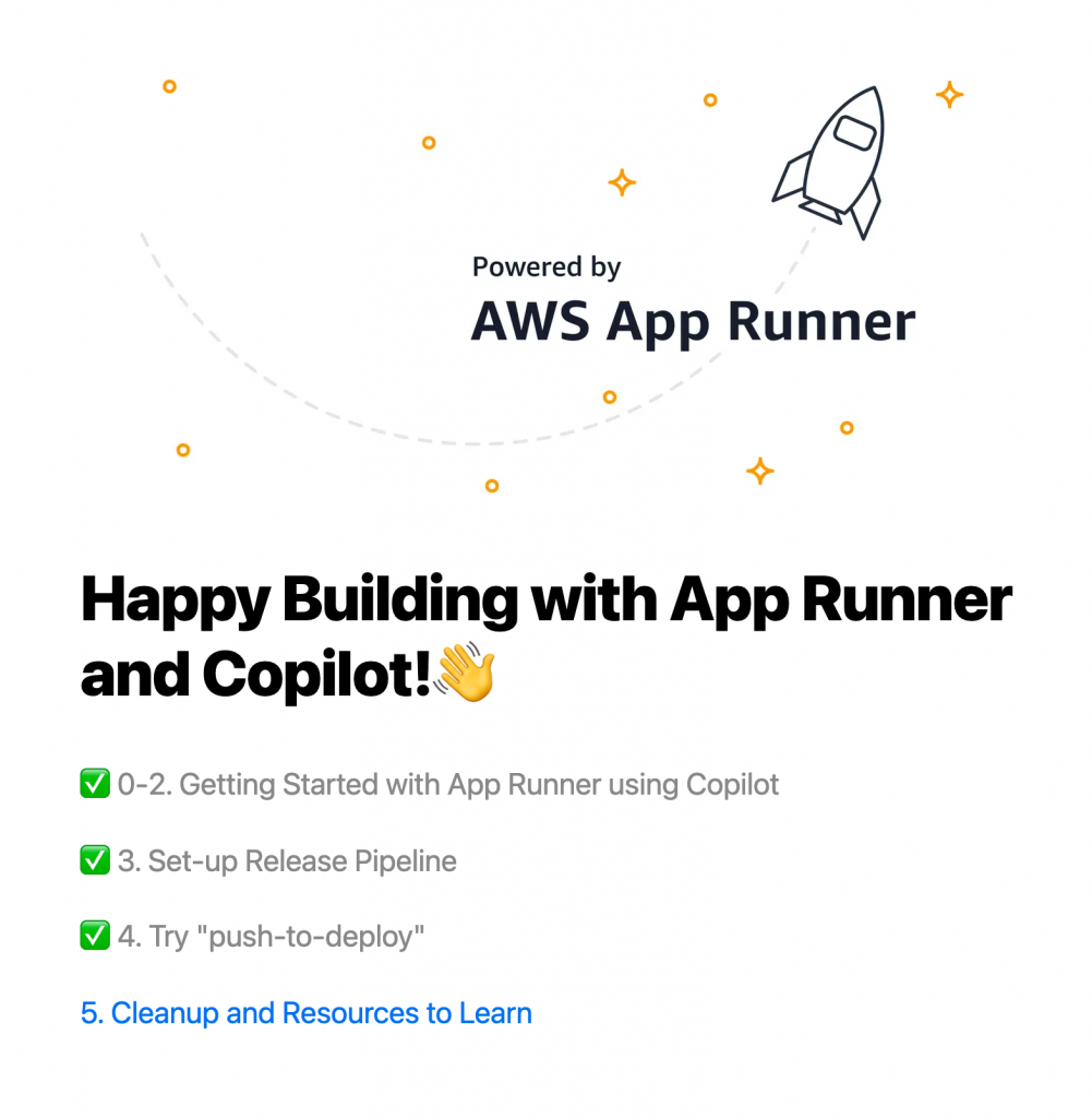 Happy Building with App Runner and Copilot!